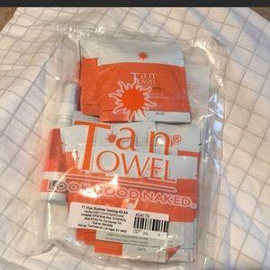 2 bags of tan towels